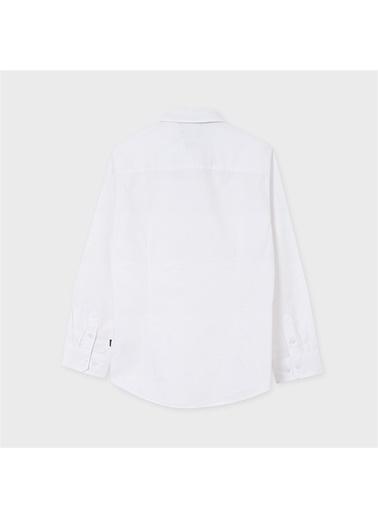 Mayoral Mayoral Erkek Çocuk Uzun Kol Papyonlu Gömlek Beyaz 20352 Beyaz